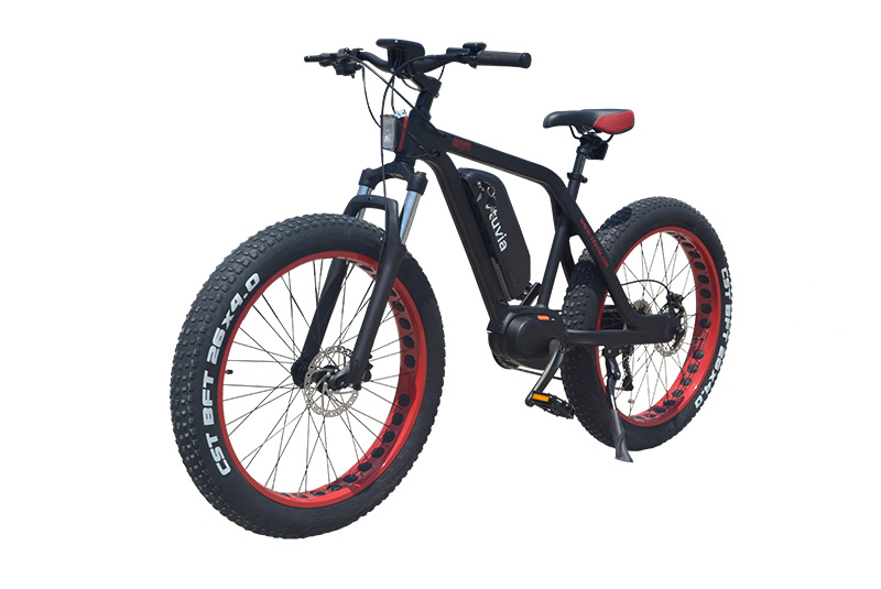 VTUVIA 26 Inch 48V 350W Mid drive Fat Tire Electric Mountain Bicycle
