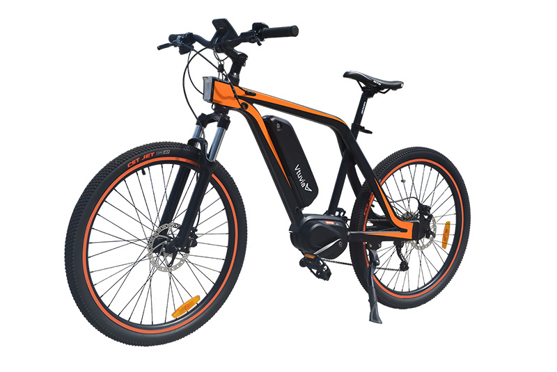 VTUVIA 26 Inch 48V 350W Bafang Mid drive Mountain Electric Bicycle