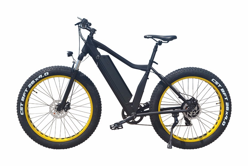 VTUVIA SJ26 Yellow Fat Tire Mountain Ebike