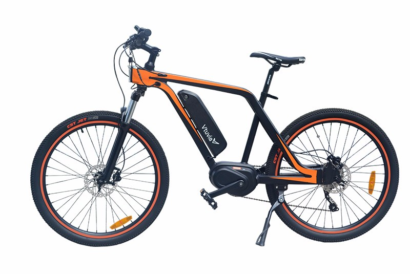 VTUVIA MM26 Orange Mid drive Mountain Ebike