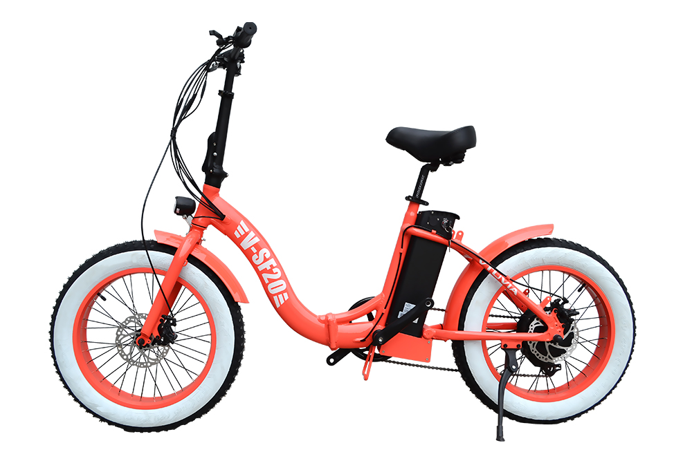 Newest Color 48V 350W 500W 750W Power 20inch Step Through Folding Electric Bike