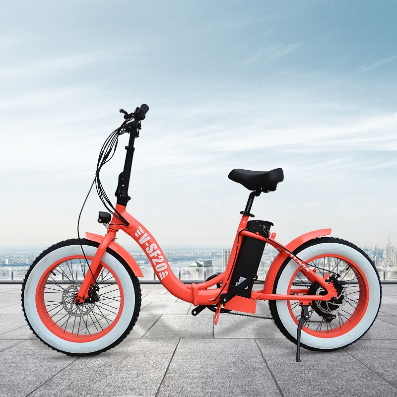 VTUVIA SF20 Orange Fat Tire Folding Ebike
