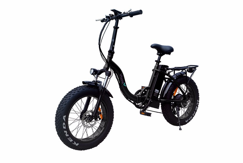 20'' Black fat tyre electric bicycle for adults