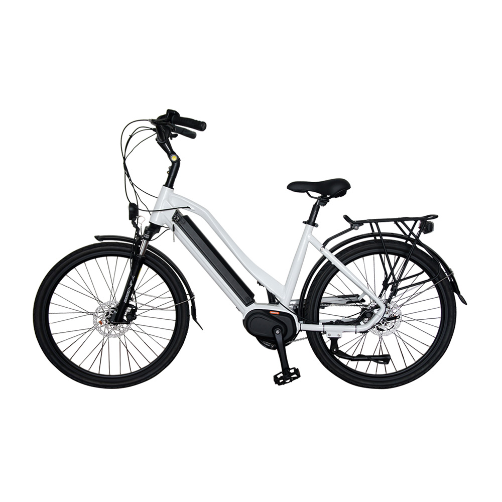 VUTVIA  Bafang Mid Drive City Moped Electric Bicycle